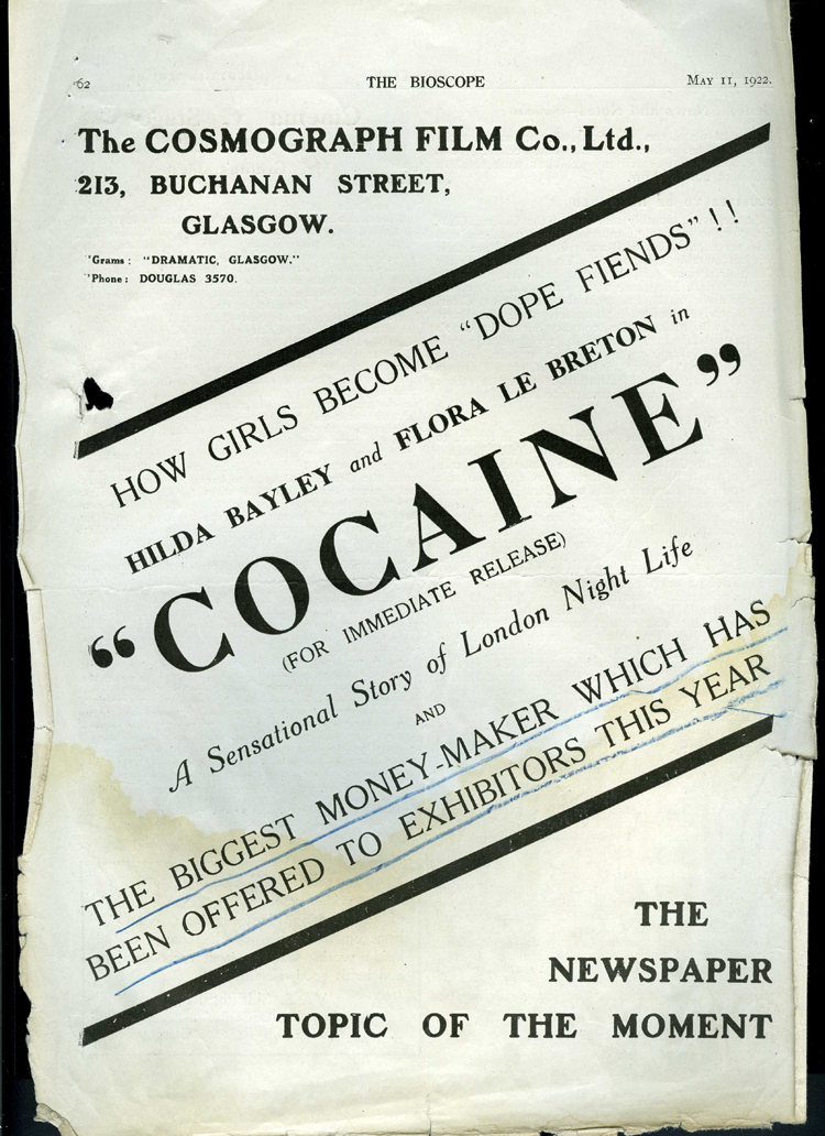 Cocaine: Dope Fiend Poster (1922)