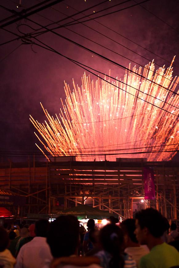 Fireworks in Santa Cruz
