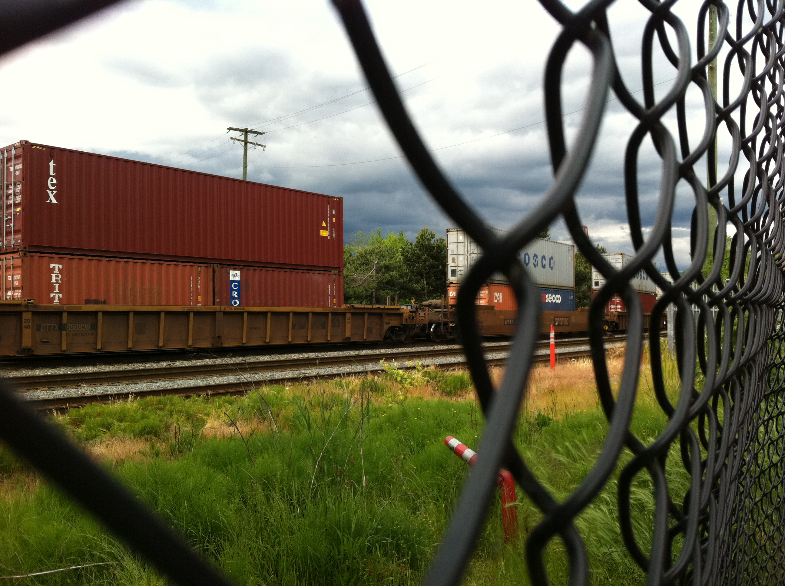 A Look Through the Train Yard at 5pm