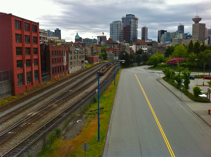 Train Tracks & Road Windowing Down Gastown